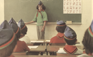 Pretty much how I imagine myself: giving lessons on the Soviet & Afghan attempt to 'do' women's rights and girls' education in occupied Afghanistan in the 1980s